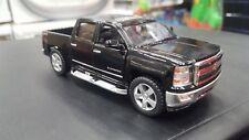 2014 Chevrolet Silverado Negro Kinsmart Modelo Juguete 1/46 Escala Coche de