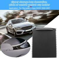 Car Center Console Roller Blind Cover for Mercedes Benz C-Class W203 Black