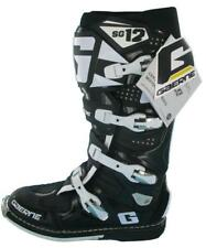 GAERNE SG12 SG-12 MOTOCROSS ENDURO MX BOOTS, BLACK NEW  (EURO SIZE 45, UK 9.5)