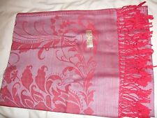 New Thai RED AND PINK Pashmina/shawl/wrap/scarf 100% Silk & Cashmere