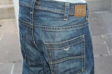 Mens Original AJ Armani Jeans W42 L34 Straight Leg 42L Blue distressed