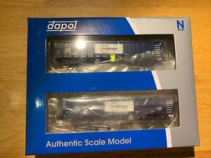 Dapol N Gauge 'MJA GBRF' 502023/24 Bogie Box Van Twin Pack 2F-025-005