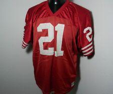 Throwback #21 Deion Sanders Jersey Red San Francisco 49ers 2XL XXL Wilson Jersey