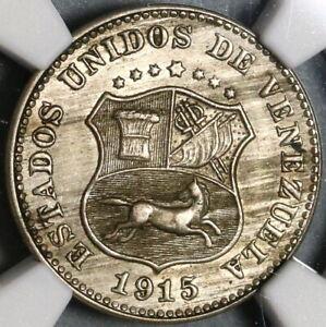 1915 NGC AU 58 Venezuela 5 Centimos Scarce Horse Coin (20021903C)