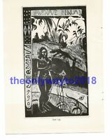 Nave Nave Fenua, Terre Delicieuse, Paul Gauguin, Book Illustration (Print), 1963