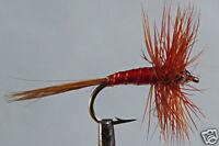 10 x Mouche de peche Sèche Araignée Rouge F. H12/14/16/18 LOT spider red fly