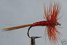 1 x Mouche de peche Sèche Araignée Rouge F. D H12/14/16/18 fly spider red