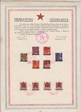 Yugoslavia,Serbia,Senta  provisorium issue,locals ,used on commemorative page