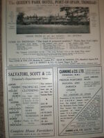 Queen's Park Hotel Port-of-Spain Trinidad West Indies 1932 old advert
