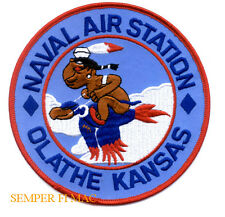 NAVAL AIR STATION OLATHE KANSAS NAS PATCH US NAVY INDIAN DUCK WING GIFT WOW!