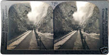 Keystone Stereoview of a Train in Royal Gorge, COLORADO from the 1930's T400 Set