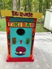 Birdhouse hand made hand painted Tiki Lounge