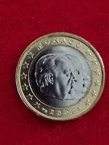 pièce de 1 euro de Monaco 2002 issue du rouleau.