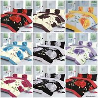 Duvet Cover with Pillow Case Quilt Cover Bedding Set Double Single King All Size