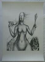 Ernst Fuchs - Plakat - Drucksigniert - Wiener Schule d. phantastischen Realismus