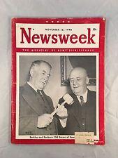 """Vintage Newsweek Magazine Nov 15, 1948 """"Barkley & Rayburn"""" cover"""