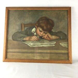 Vintage Print 'Jean Renoir Drawing'  Wood Frame Glazed 33x40cm