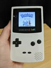 White Gameboy Color - Modded with TFT Backlit Screen, Glass Lens, and New Shell