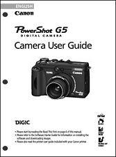 Canon Powershot G5  Digital Camera User Guide Instruction  Manual