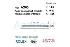 Anse speciali 2 pz flangia rlx compatibili Rolex 13 mm Spring bars strong watch