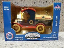 1912 FORD TANKER Standard Oil Co. Gearbox Coin Bank Die Cast 1:24 Scale NIB