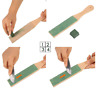 Wide Wooden Double Sided Paddle Strop Sharpening Polishing Compounds Wax New