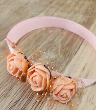 Braccialetto Fatto A Mano Color Arancione Damigella  Rosa Sposa Matrimonio