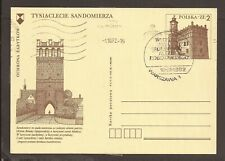 Poland 1982 Prepaid postcard. Sandomierz Town Hall and city gate.