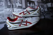 Asics Track Shoes NEW Hyperdistance GN011 Track Field White Red Spikes US 13 48