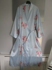 Marks & Spencers blue mix floral dressing gown/robe size 12/14 polyester
