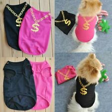 US Pet T-Shirt Clothes Costumes Summer Cute Dog Puppy Casual Tops Vest Apparel