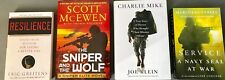 Resilience, The Sniper and The Wolf, Charlie Mike, & Service- 4 Military books