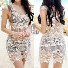Crochet Short Sleeve Floral Dresses for Women