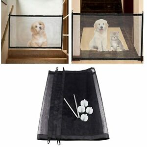 Portable Kids & Pets Safety Door Guard Magic Pet Dog Gate Pet Fence Barrier New