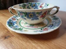Vintage Masons Ironstone Strathmore Soup Cup Dish Bowl with Saucer 15cm