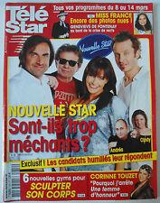 TELE STAR du 03/03/2008; Nouvelle Star/ Corinne Touzet/ Miss France/ S. Marceau