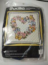 Bucilla Needlepoint Butterfly Wreath Pillow New Sealed 4635 14 x 14