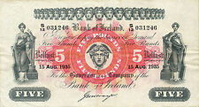 Northern Ireland Bank of Ireland P-52 5 pounds 1935 VF-