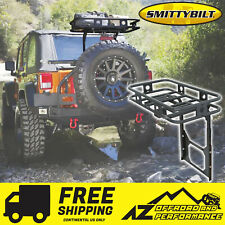 Smittybilt Defender Bolt On Tailgate Basket - Black fits 07-18 Jeep Wrangler JK