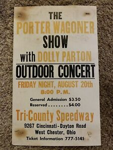 Original Porter Wagoner Show With Dolly Parton Concert Poster West Chester, Ohio