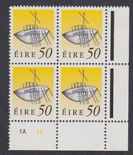 IRELAND, Scott #789: 50p Plate Block, MNH - 1990-95 Definitives