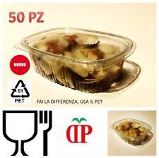 50 Vaschette per Alimenti in PET Contenitori Salvaliquidi con coperchio ermetico