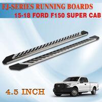 "For 15-20 FORD F150 Super Crew Cab 4.5/"" Nerf Bar Running Board Side Step Grey FJ"
