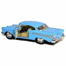 "New 5"" Kinsmart 1957 Chevrolet Bel Air Diecast Model Toy Car 1:40 Chevy Blue"