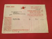Stephen Smith & Co Ltd London 1939 Wine & Spirit Merchants receipt R35308