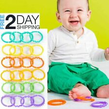 Links Rings Baby Toy 24Pcs On-The-Go Development Toy Flexible Safe Plastic Game