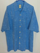 Jamaica Jaxx Men's size 2XL Blue Hawaiian Button-up Short Sleeve Shirt