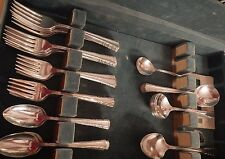 Holmes & Edwards Silverplate Flatware May Queen Set for 12 + gumbo soup + 3 serv
