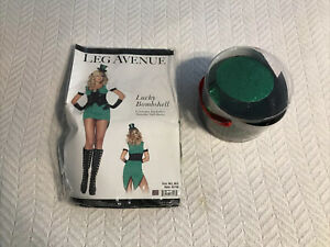 Leg Avenue Lucky Bombshell Costume w/Top Hat & Veil Size M/L