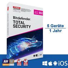 Bitdefender Total Security 2019 Multi-Device, 5 Geräte - 1 Jahr, Deutsch, Downlo